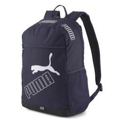 【現貨】PUMA Phase 背包 後背包 拉鍊前袋 筆電夾層 水壺袋 深藍【運動世界】07729502