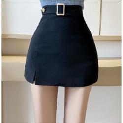 高腰顯瘦個性開叉半身裙