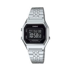 【CASIO 卡西歐】日系-復古風電子錶 不銹鋼錶帶(LA680WA-1B)