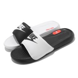 Nike 拖鞋 Victori One Slide 男女鞋 基本款 輕便 簡約 套腳 情侶穿搭 黑 白 DD0228100 [ACS 跨運動]