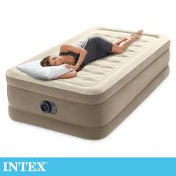 INTEX 超厚絨豪華單人加大充氣床-寬99cm (內建幫浦)(64425)
