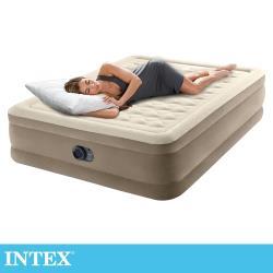 INTEX 超厚絨豪華雙人加大充氣床-寬152cm(內建幫浦)(64427)