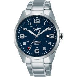 ALBA 雅柏 城市情人太陽能時尚手錶-藍x銀/39mm AS32-X018B(AX3003X1)