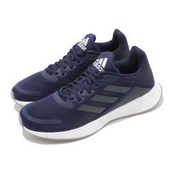 adidas 慢跑鞋 Duramo SL 運動 女鞋 愛迪達 輕量 透氣 舒適 避震 路跑 藍 黑 FW3221 [ACS 跨運動]