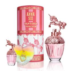 【ANNA SUI】童話粉紅獨角獸淡香水50ml(贈同款小香5ml+彩色愛心毛球吊飾)