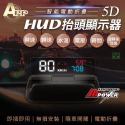 APP 5D HUD 智能電動摺疊 抬頭顯示器