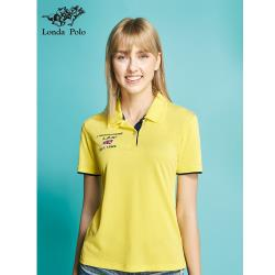 【Londa POLO】吸濕排汗女版短袖POLO衫(P206209黃)