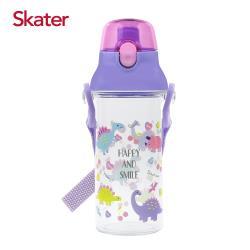 Skater直飲透明水壺 (480ml)恐龍紫