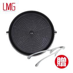 熱銷日式麥飯石燒烤組合-烤盤*1+燒烤專用夾*2