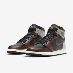 Nike 休閒鞋 AJ1 Retro High OG 男鞋 經典款 喬丹一代 皮革 球鞋 穿搭 黑 棕 555088033 555088-033