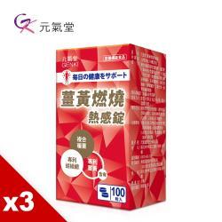 元氣堂 薑黃熱感錠(100粒/盒)x3盒