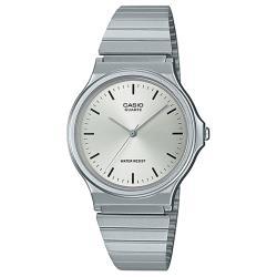 【CASIO 卡西歐】學生/青少年/業務 簡約指針男 不鏽鋼錶帶 可調式錶扣(MQ-24D-7E)