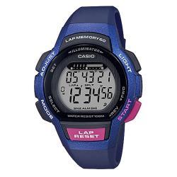 【CASIO 卡西歐】時尚潮流_跑步專用 運動電子女錶 橡膠錶帶_(LWS-1000H-2A)