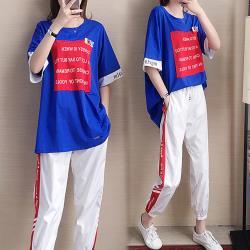 【韓國K.W.】(預購) 女神顯瘦繽紛時尚套裝褲
