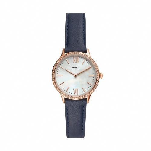 FOSSIL紐約晶鑽玫瑰金時尚腕錶FS5569/