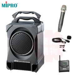MIPRO MA-707 (附CD.USB) 2.4G 專業型手提式無線擴音機(1領夾式+1支手握麥克風)