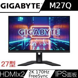 Gigabyte技嘉 M27Q 27型 170Hz 0.5ms HDR400 電競螢幕