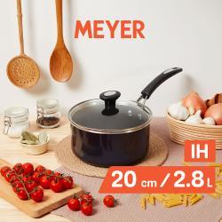 【MEYER美亞】超能導磁不沾單柄湯鍋20cm(附蓋)電磁爐適用