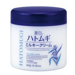 日本【 熊野油脂】麗白薏仁牛奶乳霜 300ML