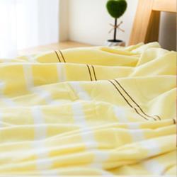 涼感紗布 靜生活雙人毛巾被(單件) 2色可選  台灣興隆毛巾製  涼感紗+美國棉雙層織造