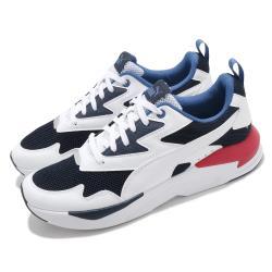Puma 休閒鞋 X-Ray Lite 復古 男女鞋 皮革鞋面 緩震 透氣 情侶鞋 穿搭推薦 白 藍 37412210 [ACS 跨運動]