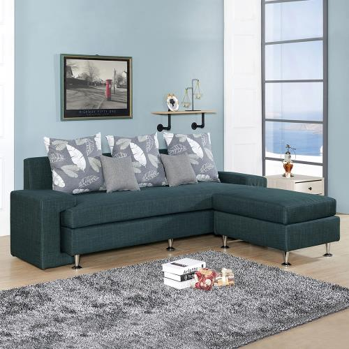 H&D 福斯L型灰布沙發全組