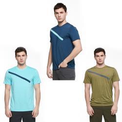 【HAKERS 哈克士】男 彈性吸濕排汗抗UV上衣(三色)