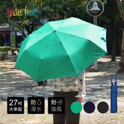 日本Waterfront 大傘面強化鋼骨鋁合金抗風防潑水速乾雨傘-4色可選