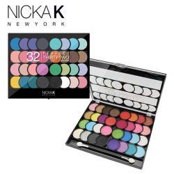 美國NICKA K 炫彩32色眼影盤