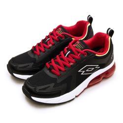 【LOTTO】男 專業避震氣墊慢跑鞋 LT20系列(黑紅 2390)