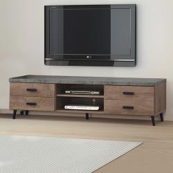 Boden-奧米6尺工業風仿石面四抽電視櫃/長櫃/視聽櫃