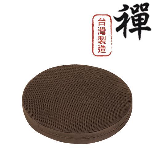 【源之氣】竹炭禪風圓形坐墊-和室/居家/木椅-台灣製(