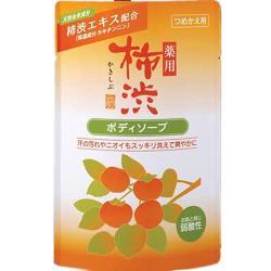 日本【 熊野油脂】 四季藥用弱酸性柿澀沐浴乳補充包350ml