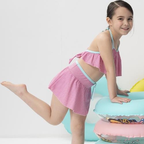 SARBIS女童兩截式泳裝附泳帽B822011/