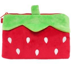 草莓筆袋化妝包收納包雙拉鍊收納袋隨身包 000-0012【卡通小物】