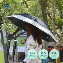 日本SUGITA 純色大傘面防風雙層抗UV一鍵速開伸縮自動傘-2色可選