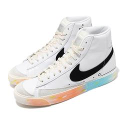 Nike 休閒鞋 Blazer Mid 77 VNTG 男鞋 基本款 簡約 皮革 質感 球鞋 穿搭 白 黑 DJ4278101 [ACS 跨運動]