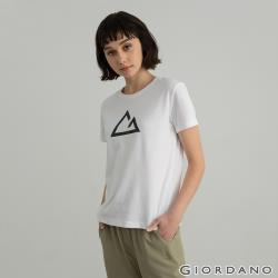 GIORDANO 女裝G-motion快乾棉T恤 (多色任選)