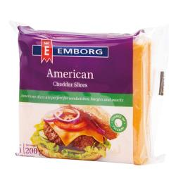 【Emborg】美國切達乾酪片200g