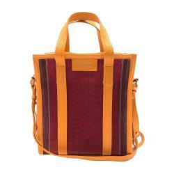【BALENCIAGA】Bazar XS 直式拉鍊手提斜背兩用包(452458-黃/紅)