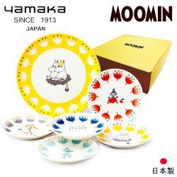 【日本山加yamaka】moomin嚕嚕米彩繪陶瓷淺盤禮盒6入組 (MM1000-52)