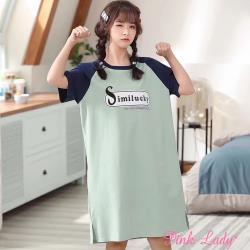 Pink Lady 沁涼綠意 居家棉柔短袖睡裙 2119(綠)