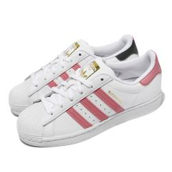 adidas 休閒鞋 Superstar 運動 女鞋 愛迪達 經典款 貝殼頭 簡約 穿搭 白 粉 FX5964 [ACS 跨運動]