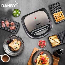 DANBY丹比 可換盤三合一點心機比利時鬆餅機DB-301WM