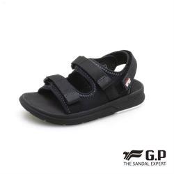 G.P 兒童簡約綿綿鞋G0722B-黑色(SIZE:28-32 共二色)