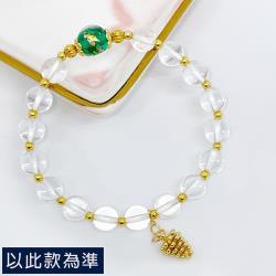 【my stere 我的時尚秘境】14k包金設計款天然白水晶星球手珠