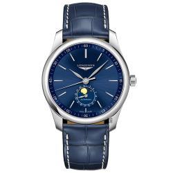 LONGINES 浪琴 Master 巨擘系列月相機械錶-藍/40mm L29094920