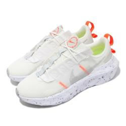 Nike 休閒鞋 Crater Impact 運動 女鞋 再生材質 環保理念 球鞋穿搭 白 淺卡其 CW2386100 [ACS 跨運動]
