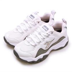 【DIADORA】女 迪亞多那 復古時尚厚底運動鞋 潮流老爹鞋系列(米灰粉 33616)
