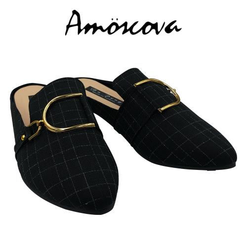 【Amoscova】MIT尖頭D型釦穆勒鞋7029/